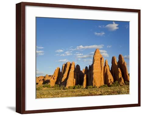 An Interesting Rock Formation in Glowing Warm Sunlight-Mike Theiss-Framed Art Print