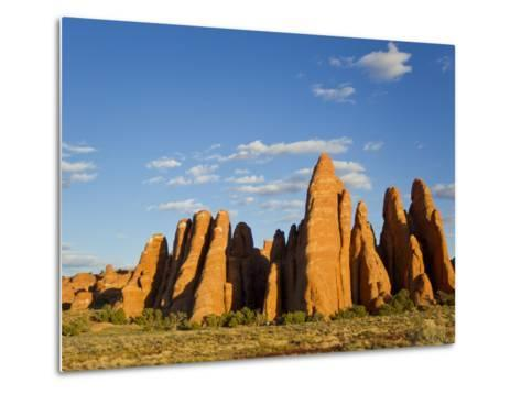 An Interesting Rock Formation in Glowing Warm Sunlight-Mike Theiss-Metal Print