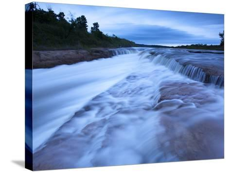 The Cascading Niobrara River-Michael Melford-Stretched Canvas Print