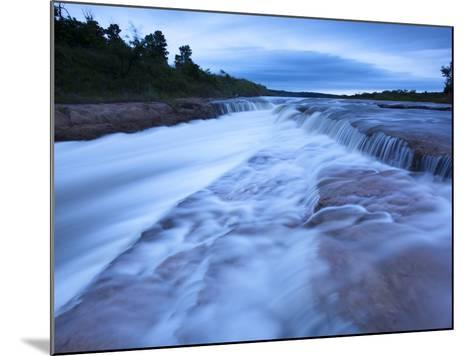 The Cascading Niobrara River-Michael Melford-Mounted Photographic Print