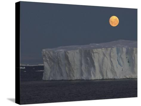 Iceberg with Rising Moon in the Weddell Sea-Bob Smith-Stretched Canvas Print