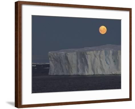 Iceberg with Rising Moon in the Weddell Sea-Bob Smith-Framed Art Print