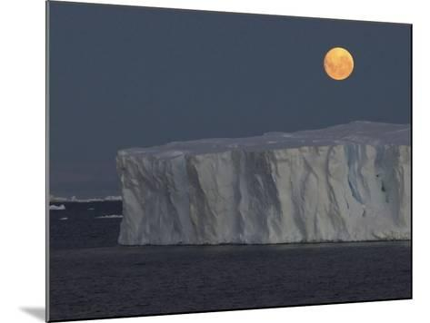Iceberg with Rising Moon in the Weddell Sea-Bob Smith-Mounted Photographic Print