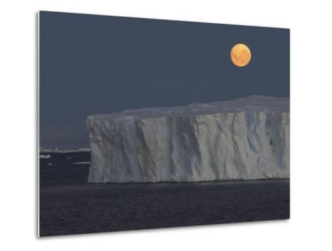 Iceberg with Rising Moon in the Weddell Sea-Bob Smith-Metal Print