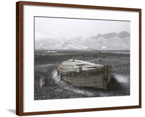 An Abandoned Boat on the Beach at Port Foster-Bob Smith-Framed Art Print