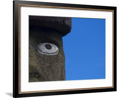 Ahu Ko Te Riku Moai at Ahu Tahai, Easter Island-Michael Melford-Framed Art Print