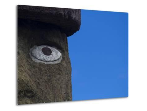 Ahu Ko Te Riku Moai at Ahu Tahai, Easter Island-Michael Melford-Metal Print