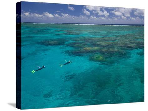 The Great Barrier Reef Out of Port Douglas in Australia-Michael Melford-Stretched Canvas Print