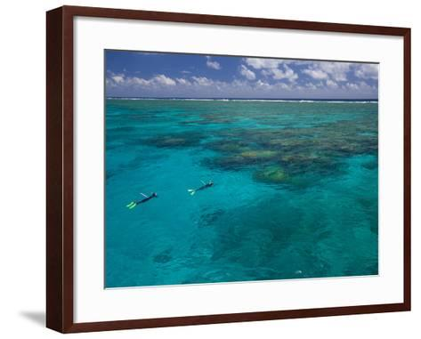 The Great Barrier Reef Out of Port Douglas in Australia-Michael Melford-Framed Art Print