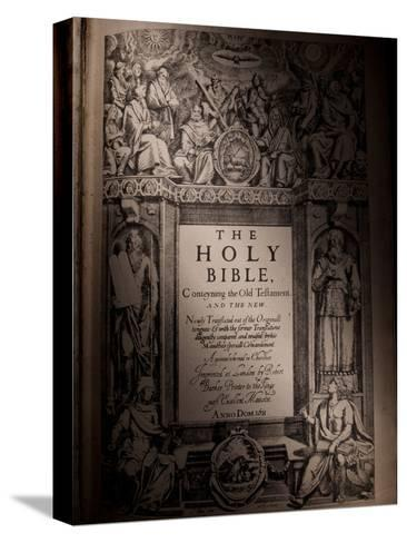 The Title Page of an Original King James Bible Dating from 1611-Jim Richardson-Stretched Canvas Print