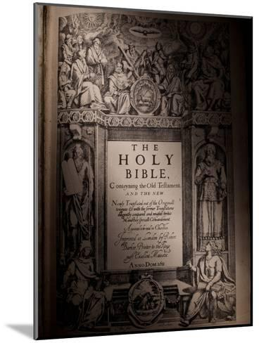 The Title Page of an Original King James Bible Dating from 1611-Jim Richardson-Mounted Photographic Print