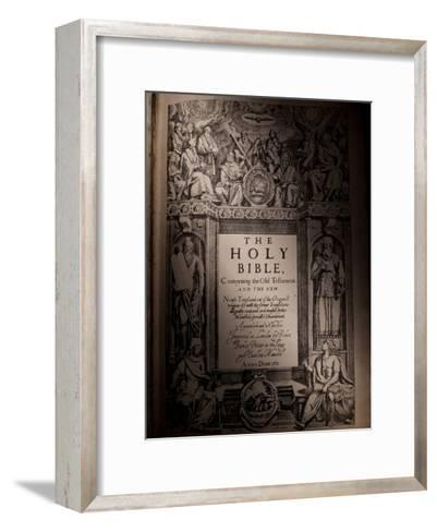 The Title Page of an Original King James Bible Dating from 1611-Jim Richardson-Framed Art Print