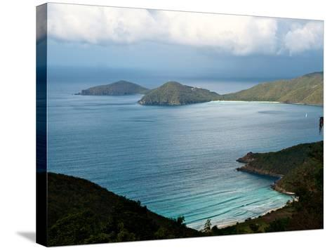 Guana Island Seen from High Atop Tortola Island-Heather Perry-Stretched Canvas Print