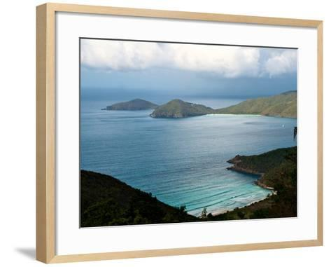 Guana Island Seen from High Atop Tortola Island-Heather Perry-Framed Art Print