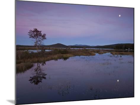 Moonrise over Big Simon Pond-Michael Melford-Mounted Photographic Print