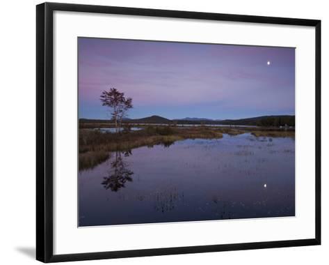 Moonrise over Big Simon Pond-Michael Melford-Framed Art Print