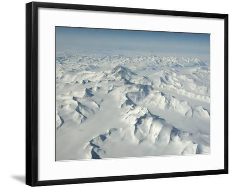 On Mount Erebus, the Ice Has Been Polished and Textured by the Wind-Peter Carsten-Framed Art Print