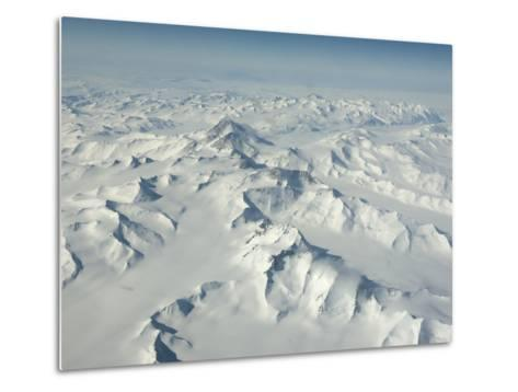 On Mount Erebus, the Ice Has Been Polished and Textured by the Wind-Peter Carsten-Metal Print