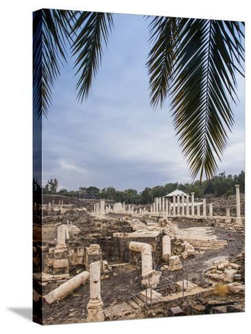Roman Remains and Earthquake Damage in the Ancient City of Beit Shean-Richard Nowitz-Stretched Canvas Print