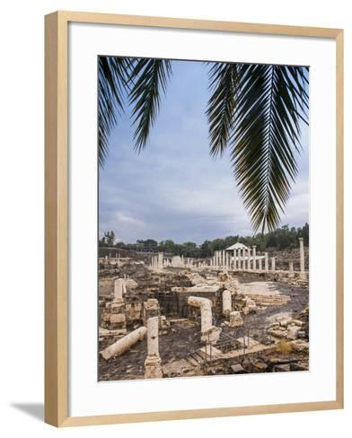 Roman Remains and Earthquake Damage in the Ancient City of Beit Shean-Richard Nowitz-Framed Art Print