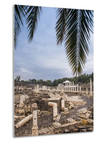 Roman Remains and Earthquake Damage in the Ancient City of Beit Shean-Richard Nowitz-Metal Print