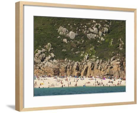 A Cornish Beach on a Rare Sunny Day-Mauricio Handler-Framed Art Print