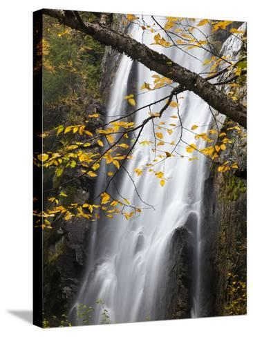 Rainbow Falls in the Saint Huberts Region of the Adirondacks-Michael Melford-Stretched Canvas Print