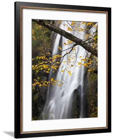 Rainbow Falls in the Saint Huberts Region of the Adirondacks-Michael Melford-Framed Art Print