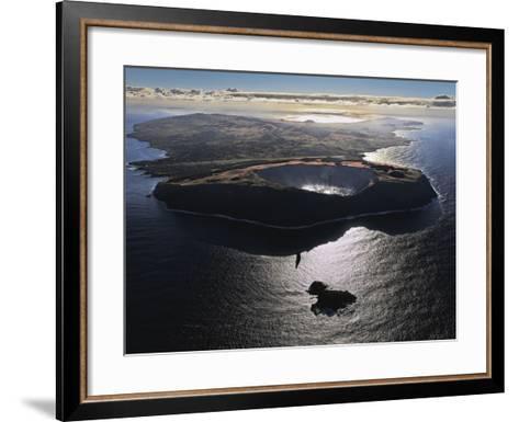 Three Volcanoes, Quiet Now, Formed Easter Island Half a Million Years Ago-Randy Olson-Framed Art Print