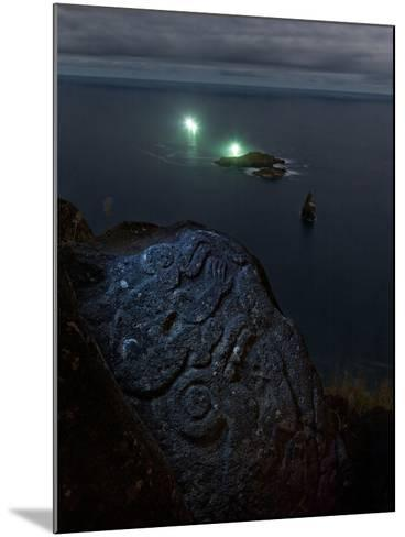 A Petroglyph with a Birdman Motif-Randy Olson-Mounted Photographic Print