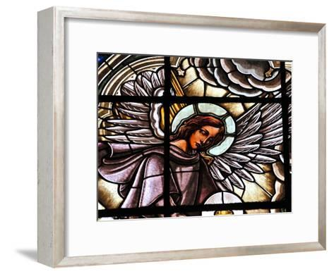Stained Glass Window at the Basilica Del Voto Nacional-Kike Calvo-Framed Art Print