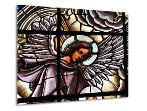 Stained Glass Window at the Basilica Del Voto Nacional-Kike Calvo-Metal Print