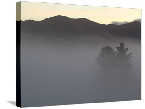 Morning Fog Blankets the Adirondack Mountains-Michael Melford-Stretched Canvas Print