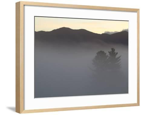 Morning Fog Blankets the Adirondack Mountains-Michael Melford-Framed Art Print