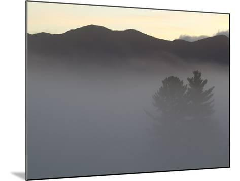 Morning Fog Blankets the Adirondack Mountains-Michael Melford-Mounted Photographic Print