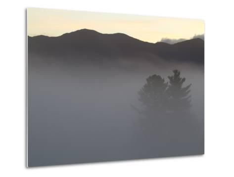 Morning Fog Blankets the Adirondack Mountains-Michael Melford-Metal Print