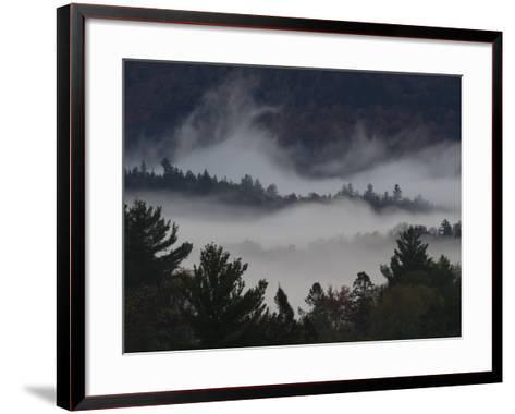 Morning Fog Blankets Adirondack Park-Michael Melford-Framed Art Print
