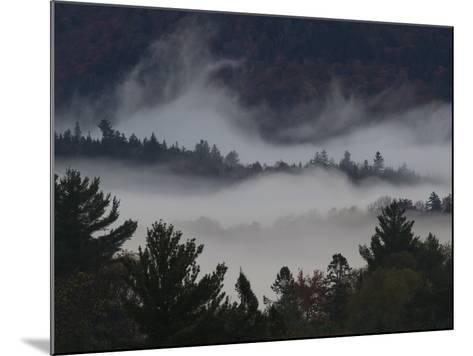 Morning Fog Blankets Adirondack Park-Michael Melford-Mounted Photographic Print