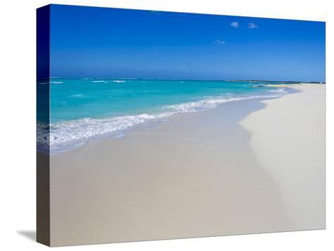 Perfect Paradise White Sand Beaches and the Blue Caribbean Sea-Mike Theiss-Stretched Canvas Print
