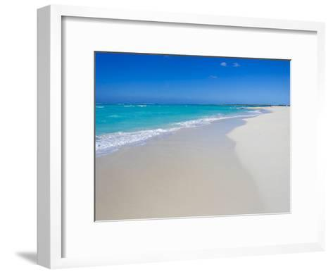 Perfect Paradise White Sand Beaches and the Blue Caribbean Sea-Mike Theiss-Framed Art Print