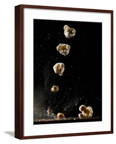 Multiple Exposure of a Single Popping Popcorn-Bruce & Greg Dale-Framed Art Print