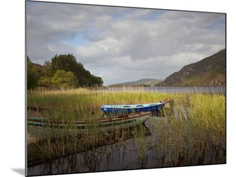 An Afternoon Landscape of a Lake with Rowboats in the Foreground-Kenneth Ginn-Mounted Photographic Print