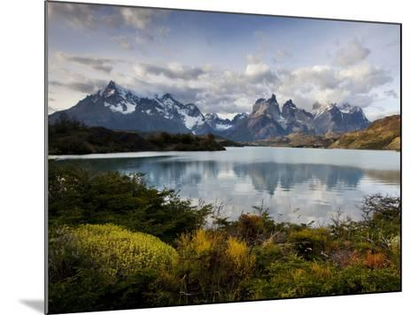 Los Cuernos Del Paine Seen across Lake Pehoe-Alex Saberi-Mounted Photographic Print