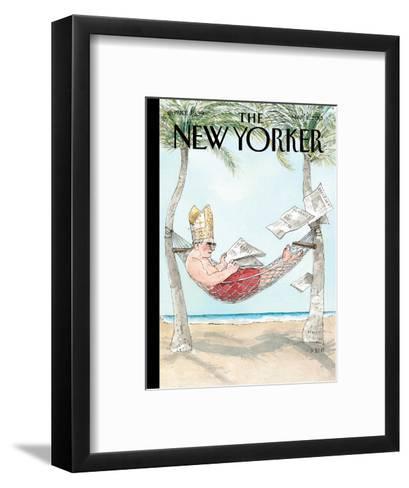 The New Yorker Cover - March 11, 2013-Barry Blitt-Framed Art Print