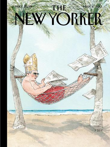 The New Yorker Cover - March 11, 2013-Barry Blitt-Stretched Canvas Print
