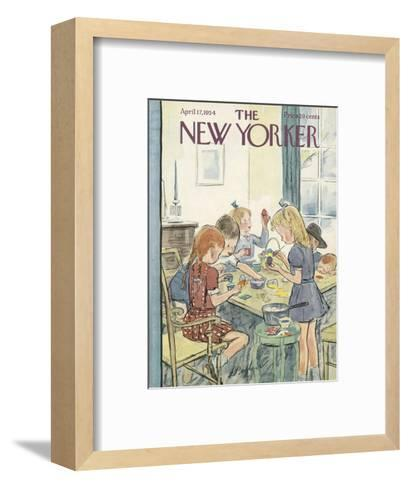 The New Yorker Cover - April 17, 1954-Perry Barlow-Framed Art Print