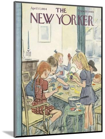 The New Yorker Cover - April 17, 1954-Perry Barlow-Mounted Premium Giclee Print