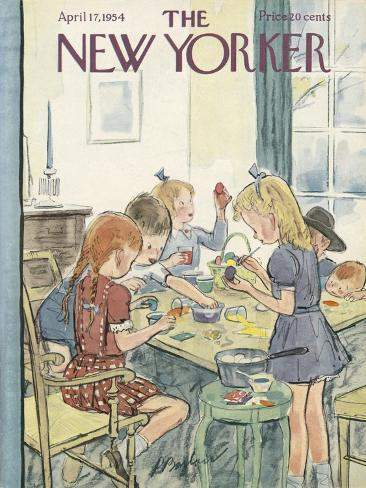 The New Yorker Cover - April 17, 1954-Perry Barlow-Stretched Canvas Print