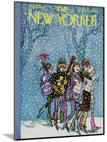 The New Yorker Cover - December 16, 1967-Charles Saxon-Mounted Premium Giclee Print