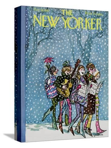 The New Yorker Cover - December 16, 1967-Charles Saxon-Stretched Canvas Print